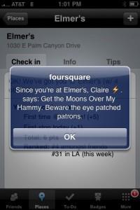 foursquare recommendation